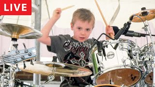WIPE OUT - LIVE (6 year old Drummer)