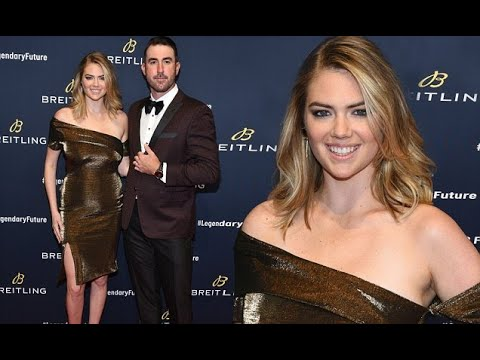 Kate Upton at Breitling Global Roadshow event with husband