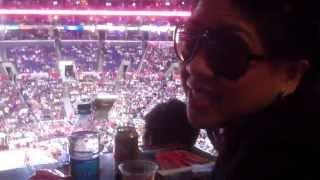 Los Angeles Lakers for life! Bernadette & Nikki Pam (April 7, 2013)
