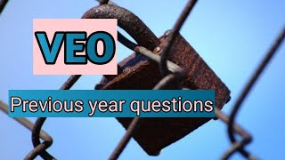 VEO previous year questions