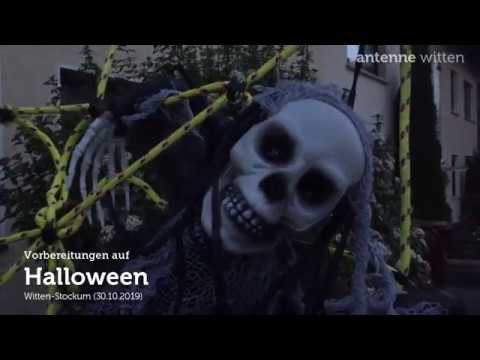 Halloween-Vorbereitungen in Witten
