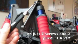 traxxas xmaxx front differential diff access and removal