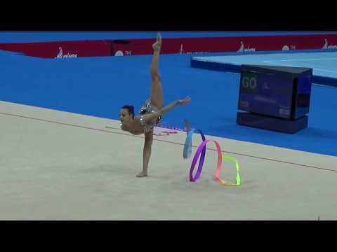 BREAKING NEWS. ASHRAM LINOY / ISR/ SILVER MEDAL RHYTHTMIC GYMNASTICS II European  Games 2019 RESULTS