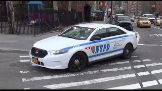 Police Car Responding NYPD Slicktop with Rumbler Siren