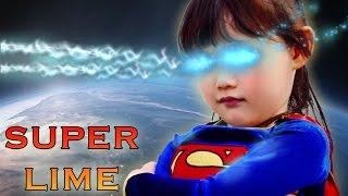 [특집]히어로 슈퍼라임! 너프건을 든 악당을 물리쳐라!! super girl super hero baby LimeTube & Toy Игрушки 라임튜브