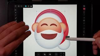 Santa emoji/Icon Speed-art