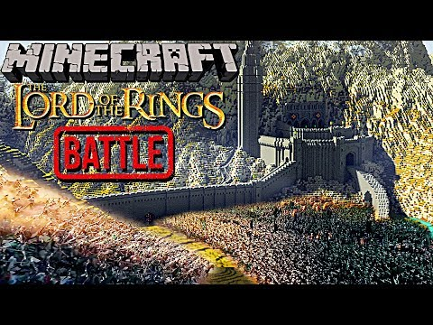 EPIC Minecraft Recreation Of Helm's Deep Battle! (Raytraced)