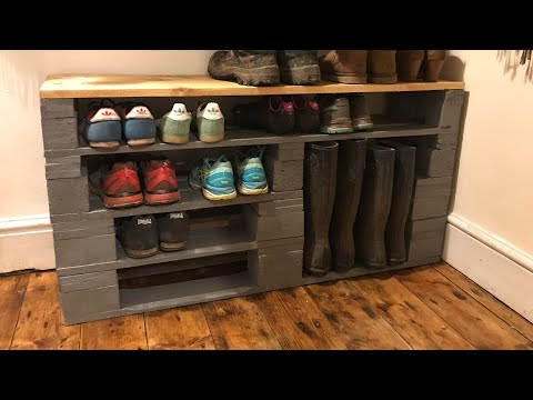 How to make a Shoe Rack out of old pallets. DIY shoe rack