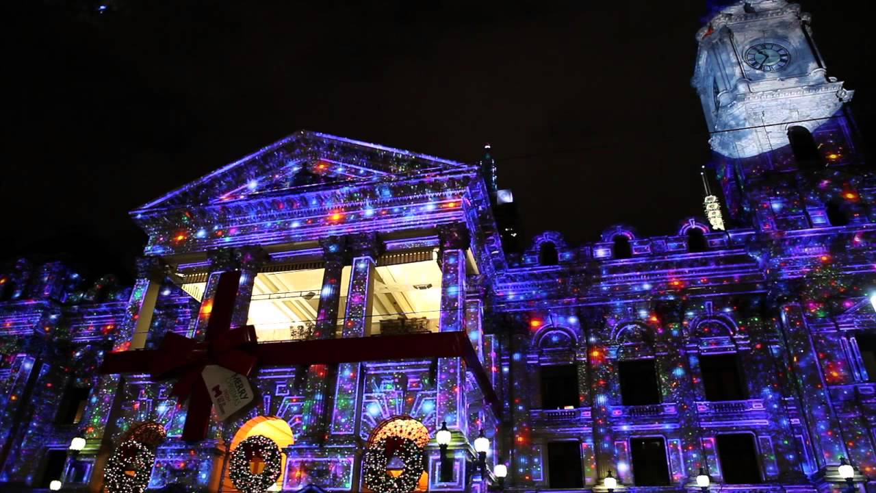 Animated Christmas Tree Wallpaper Free Christmas 3d Light Projection Show Melbourne Youtube