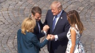 Trump's never-ending handshake with Macron thumbnail