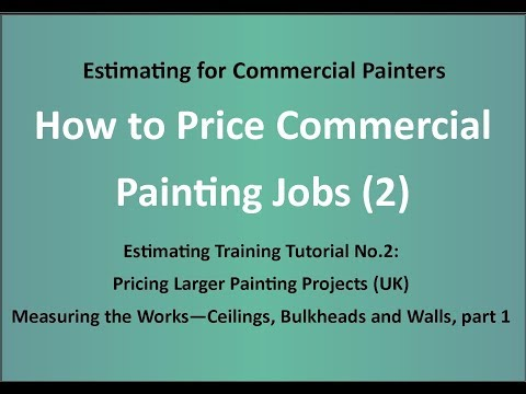 Estimating Training for Painters - How To Price Painting Jobs (2) -Larger Contracts