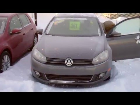 Brand New VW GOLF TDI Diesel Cold Weather Starting Test