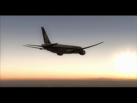 FSX LongHaul Flight! : SIA323 Amsterdam To Singapore 777!!! Cruise, Approach And Landing!!!