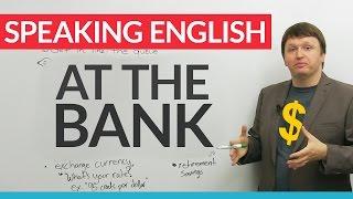 real english vocabulary at the bank