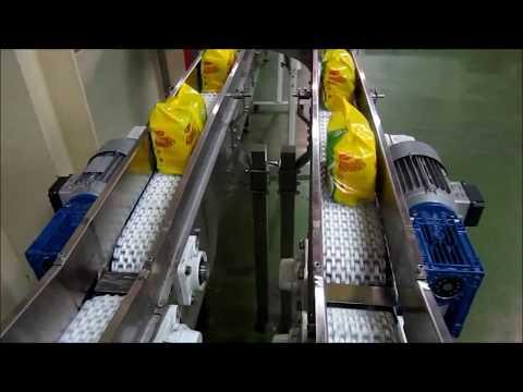 Instant Noodle Multipack Conveyor  - Handling of instant noodles in packets