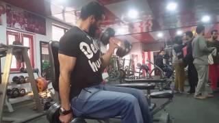 Nasir Kraipak   Body Builder   Biceps Workout in Gym