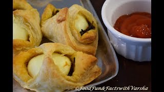 EGG PUFF  Recipe with pastry sheets, अड क पफ पसटर