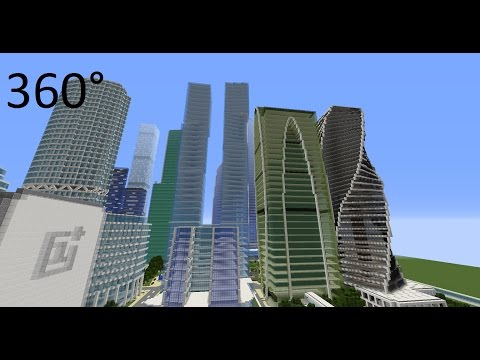 Minecraft: Moscow Business Center VR / 360 degrees [Reupload]