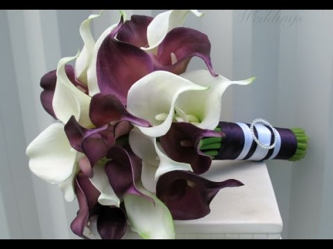 purple calla lily wedding bouquets purple calla wedding bouquet 6885