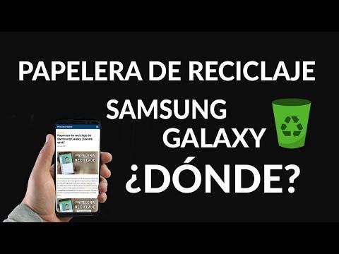 ¿Dónde está la Papelera de Reciclaje en los Samsung Galaxy?