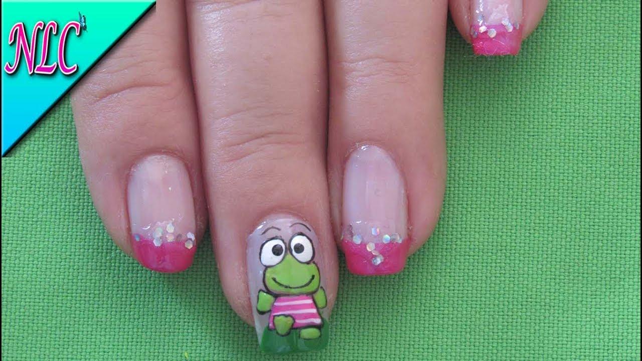 DECORACIÓN de uñas SAPITO♥ - COMO PINTAR un SAPITO♥ -FROG Nail Art ...