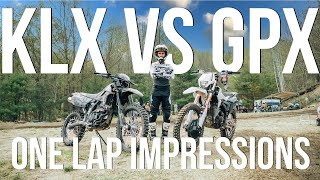 KLX250 vs Chinese Knock-Off! || One Lap Impressions