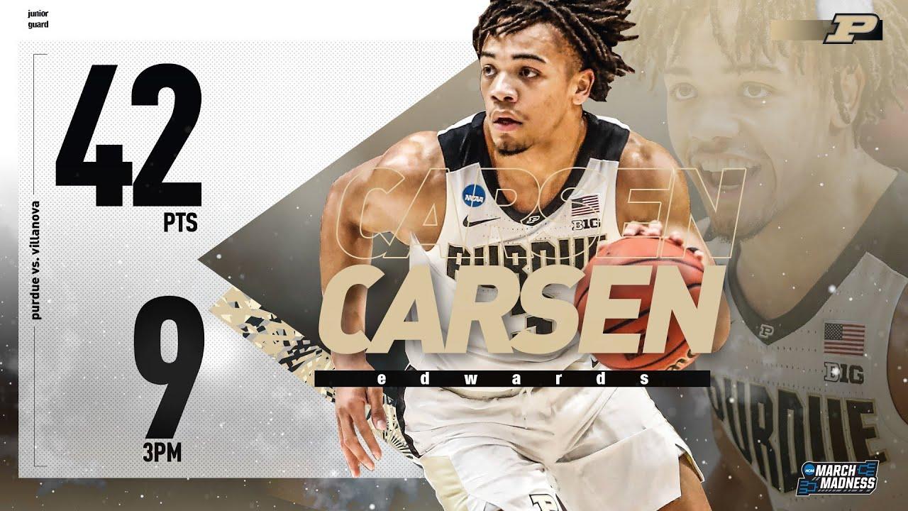 Carsen Edwards erupts, and Purdue basketball dominates Villanova to return to the Sweet 16