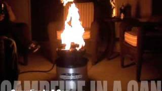 """outdoor Living"" Campfire In A Can Portable Propane Fire Pit For Backyard And Camping"