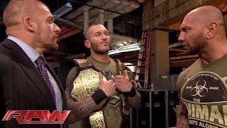 Batista confronts Randy Orton: Raw, Feb. 17, 2014