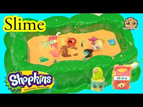 Slime Pit Party With Disney Frozen Queen Elsa And Season 4 Shopkins 12 Pack - Cookieswirlc Video