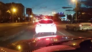 Свет фар. Как светят светодиодные лампы в фарах Волги ГАЗ-31105.