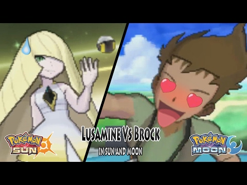 Pokemon Sun and Moon Trainer Lusamine Vs Brock (Pokemon Multiverse)