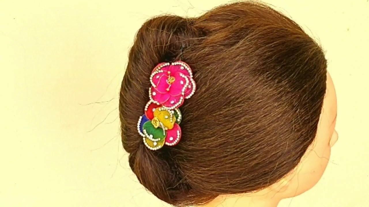 Beautiful French Roll Hairstyle For Girls Party Occasionwedding