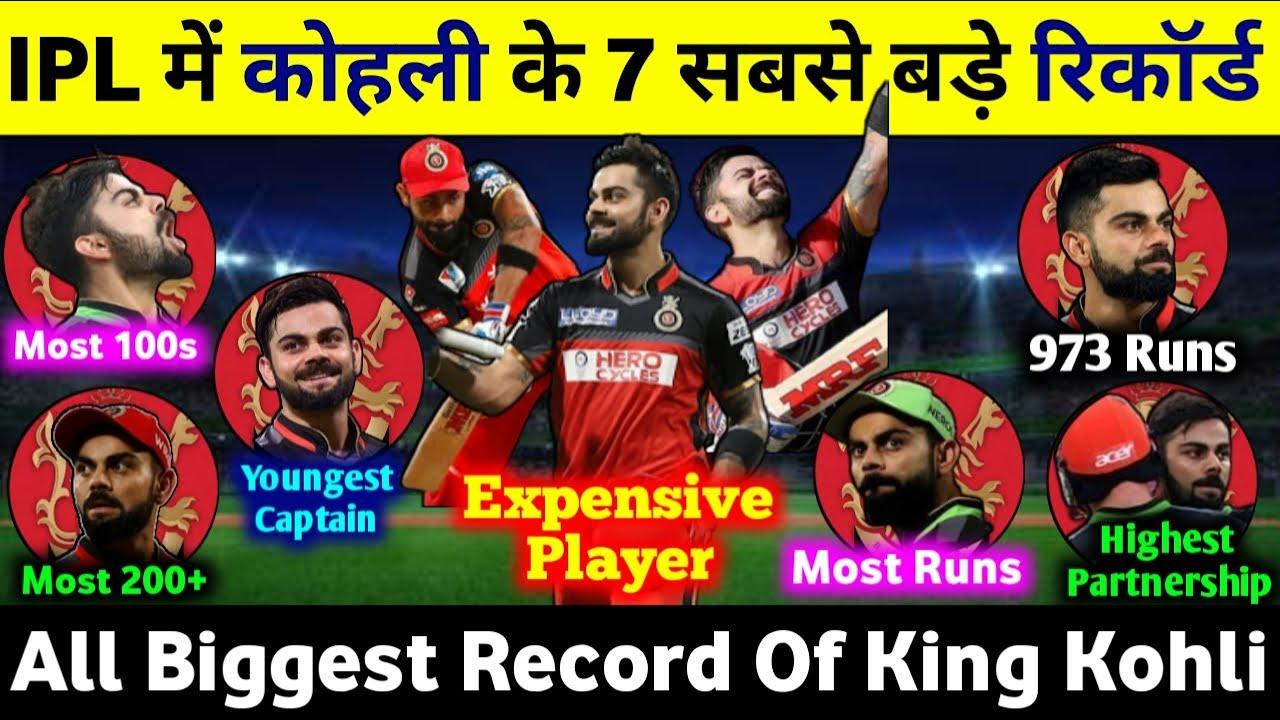 Download Kohli All IPL Records : Top Biggest Records For Virat Kohli In IPL History   कोहली के 7 बड़े रिकॉर्ड