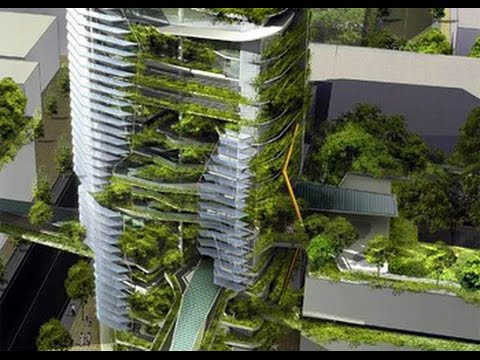 MEGACITIES EXPOSED: PROOF THAT THE AGENDA 21 PLANNERS WANT BUILDINGS  COVERED IN PLANTS.