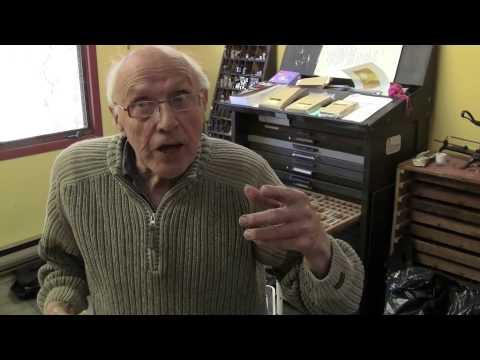 Book Artist Hugh Barclay at His Thee Hellbox Press Workshop