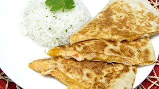 Creamy Lobster Quesadillas With Cilantro Lime Rice