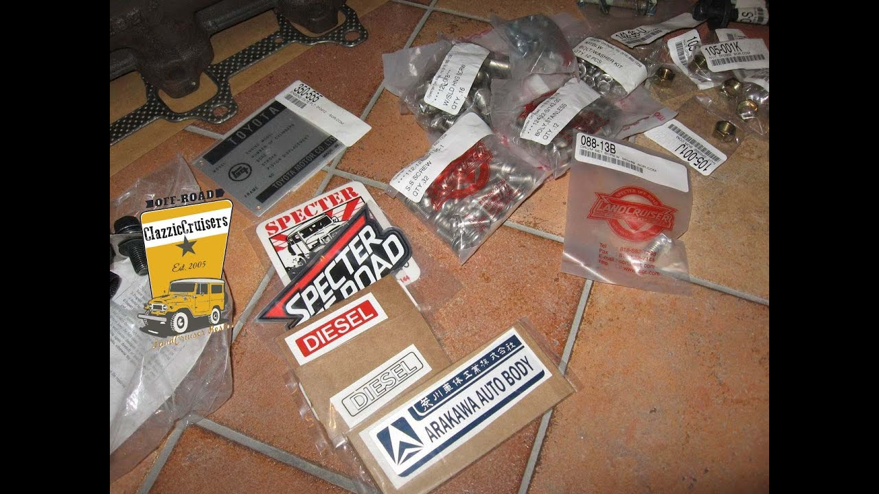 Specter Off Road Toyota LandCruiser FJ40 BJ40 BJ42 parts decals -  RESTORATION update 01-08-2011