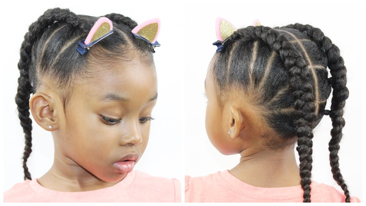 Ponytail Cornrow | Hairstyles for Little Girls | Natural Hairstyle ...