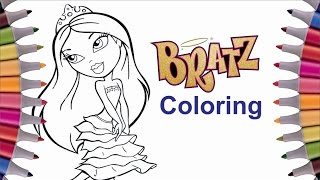 Coloring Princess Bratz | Coloring pictures for toddlers, for girls