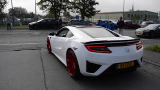 cars & coffee Luxembourg 2017 Accelerations,Burnouts - M4 G-POWER, Mclaren 720s, RS6 R...