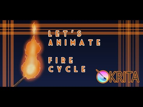Let's Animate Ep. 22.1: Krita - Fire Cycle Tutorial 🔥✍️