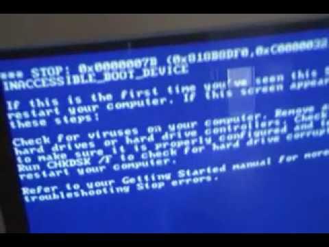 Windows 2000 Booting Error *read description - YouTube