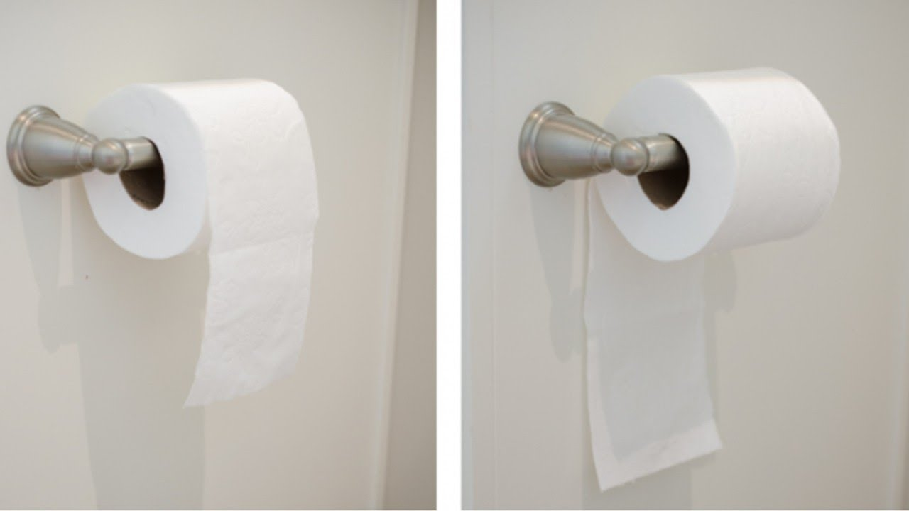 This Is The Right Way To Hang Toilet Paper According Science