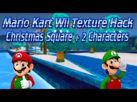 Christmas Mario Kart.Christmas Mario On Mach Bike Mario Texture Custom Mario Kart