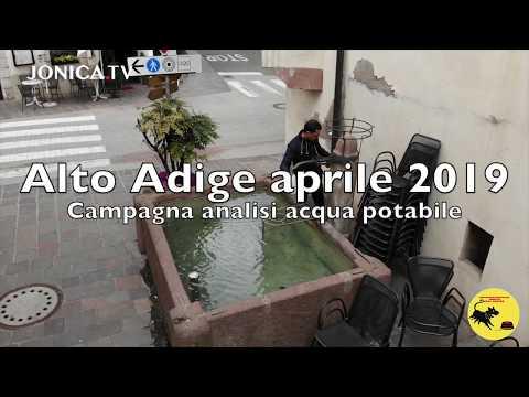 Prelievi acqua Alto Adige aprile 2019