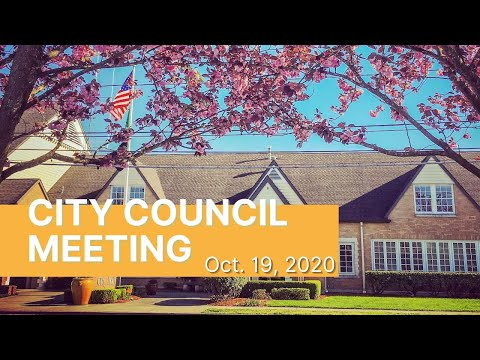 Public Hearing/Council Meeting Oct 19, 2020