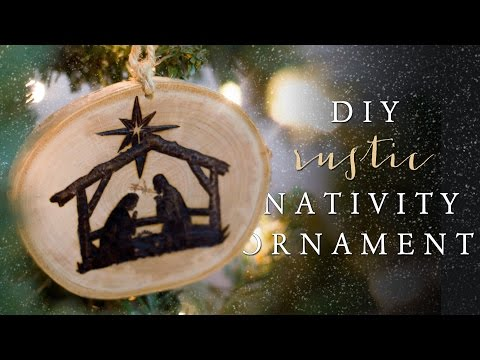 DIY Wood Nativity Ornament | 12 Days of Christmas Series (Day 7)