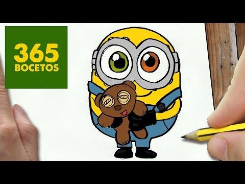 Como Dibujar Bob De Los Minions Kawaii Paso A Paso Dibujos Kawaii