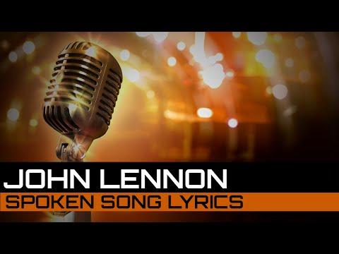Spoken Song Lyrics: John Lennon - Imagine